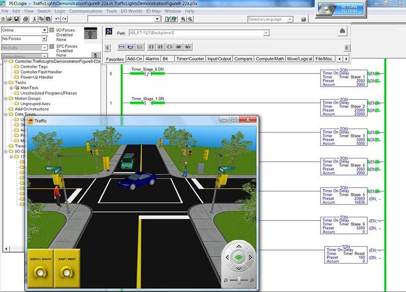 Logixsim plclogix in the traffic light world ccuart Choice Image